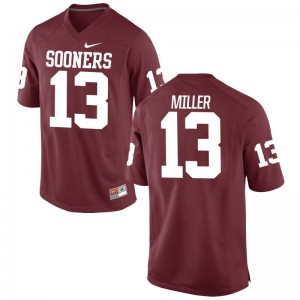 Oklahoma Sooners A.D. Miller Jerseys Mens Large Crimson For Men Limited