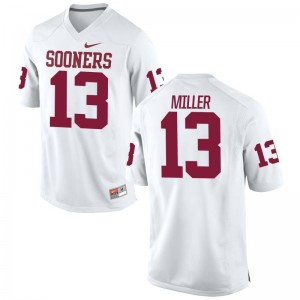 White A.D. Miller Jersey Small Oklahoma Mens Limited