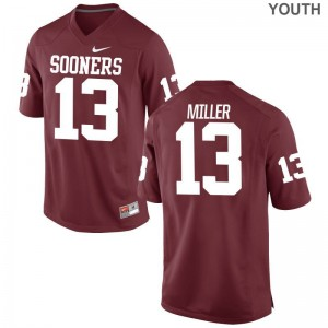 A.D. Miller Youth(Kids) Jerseys Youth X Large Sooners Limited - Crimson