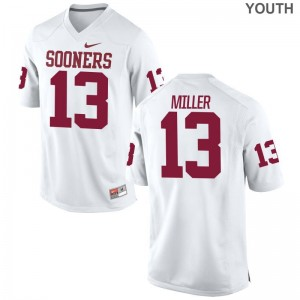 Kids A.D. Miller Jerseys Youth Medium Sooners White Limited