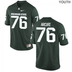 AJ Arcuri Youth(Kids) Jersey Medium Limited Michigan State Spartans Green