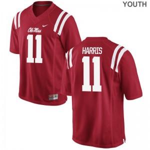 Ole Miss Rebels A.J. Harris For Kids Limited NCAA Jerseys Red