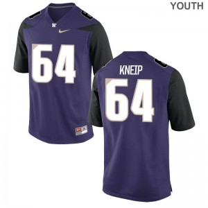 Washington Huskies Limited A.J. Kneip Kids Purple Jerseys Youth Small