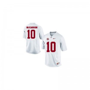Youth(Kids) Limited Alumni Alabama Jerseys AJ McCarron White Jerseys