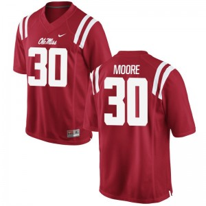 A.J. Moore Jersey Ole Miss Rebels Red Limited Men Stitched Jersey