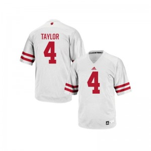 A.J. Taylor Jersey For Men University of Wisconsin Authentic White