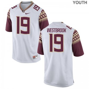 Limited A.J. Westbrook Jersey Large Florida State Kids - White