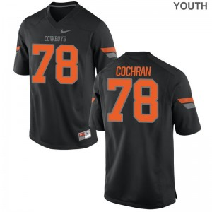 For Kids Aaron Cochran Jersey High School Black Limited OSU Cowboys Jersey