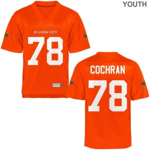 Oklahoma State Cowboys Jersey Large Aaron Cochran Youth(Kids) Limited - Orange