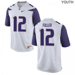 Aaron Fuller Limited Jerseys Youth(Kids) Football UW White Jerseys