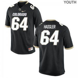 Aaron Haigler Youth Jerseys Youth X Large Limited Colorado Buffaloes Black