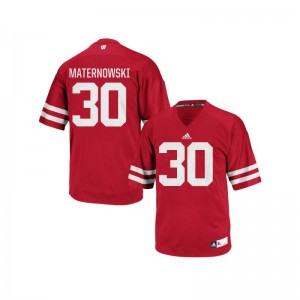 Aaron Maternowski Wisconsin Badgers Jersey Replica Men - Red