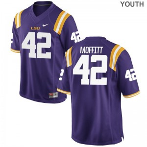 Aaron Moffitt Tigers Jerseys Medium Youth Limited Jerseys Medium - Purple