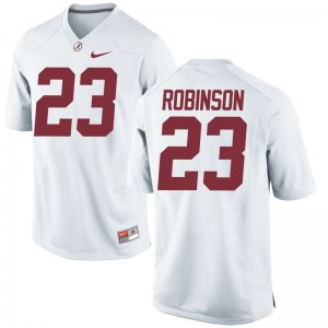 Aaron Robinson Bama Jersey Mens Limited White