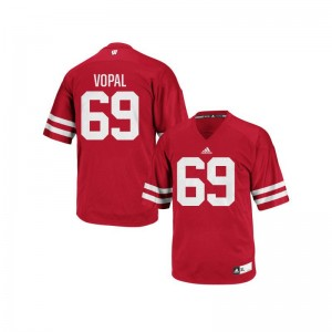 Wisconsin Badgers Aaron Vopal Jerseys Stitch Men Authentic Red Jerseys