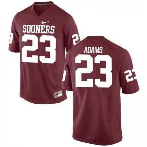 Small OU Sooners Abdul Adams Jersey University Men Limited Crimson Jersey
