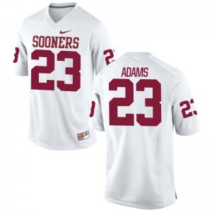 Abdul Adams OU Jerseys Mens Small For Men Limited - White