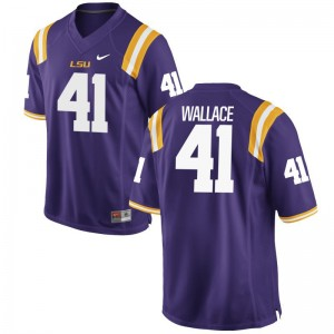 For Kids Abraham Wallace Jerseys Youth Medium LSU Tigers Limited Purple