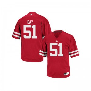 University of Wisconsin Adam Bay Jerseys Mens Small Mens Authentic Jerseys Mens Small - Red