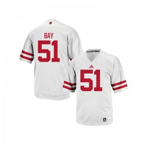 Wisconsin Badgers Authentic Men Adam Bay Jerseys Mens XL - White