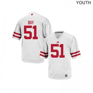 Adam Bay Jersey Large UW Authentic Kids - White