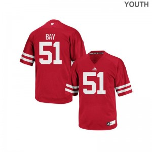 Wisconsin Badgers Jersey Youth Medium Adam Bay Youth(Kids) Replica - Red
