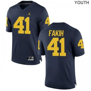 Michigan Adam Fakih Jerseys Youth Medium Limited For Kids Jordan Navy