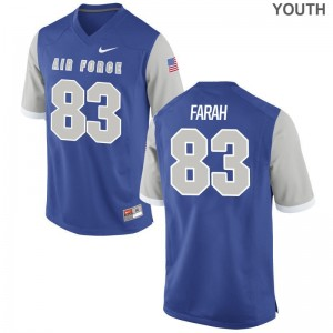 Air Force Falcons Limited Kids Royal Adam Farah Jerseys Youth Large