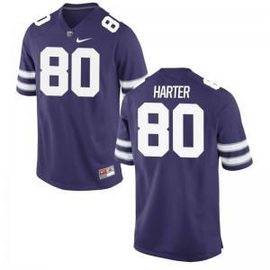 Kansas State Limited Mens Purple Adam Harter Jersey Mens XL