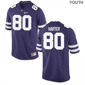 Adam Harter Youth(Kids) Jerseys Youth XL Limited Kansas State University Purple