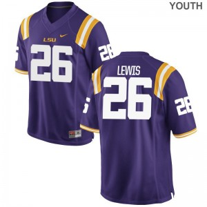 LSU Adam Lewis Limited For Kids Jersey Medium - Purple