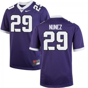 Texas Christian University Jerseys Mens XXL of Adam Nunez Limited For Men - Purple