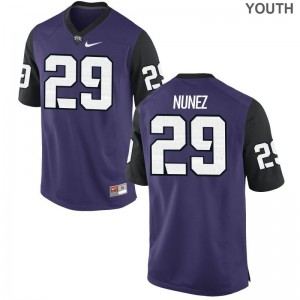 Adam Nunez Jersey Texas Christian Purple Black Limited Youth Stitch Jersey