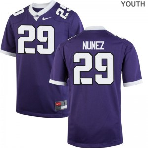Adam Nunez TCU Jerseys Youth Large Limited For Kids - Purple