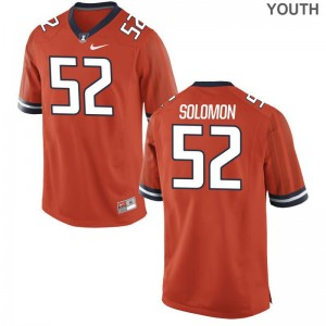 Illinois Adam Solomon Jersey Small Kids Limited Orange