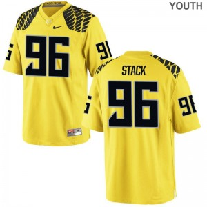 Oregon Ducks Limited Kids Gold Adam Stack Jerseys Youth X Large