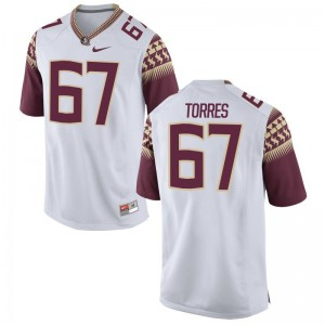 Adam Torres Jersey Mens XL Florida State Seminoles Limited Men - White