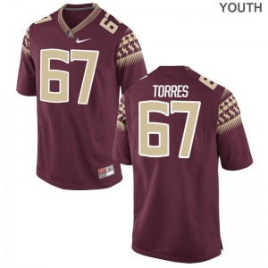Adam Torres Seminoles Jersey Large Kids Limited - Garnet