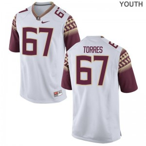 Seminoles Adam Torres Youth(Kids) Limited Jersey Youth Large - White