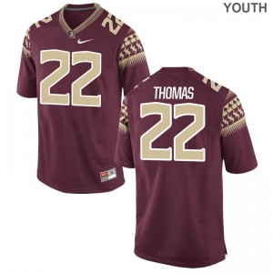 Adonis Thomas FSU Jerseys Small Limited Kids Garnet