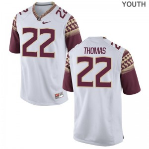 Limited FSU Seminoles Adonis Thomas Youth Jersey X Large - White