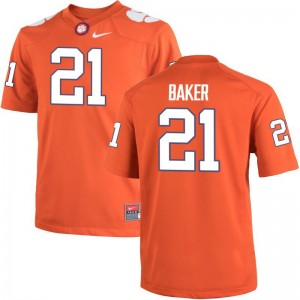 Clemson University Adrian Baker Jersey Medium Orange Mens Limited