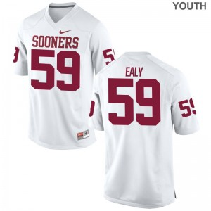 Adrian Ealy Youth(Kids) Sooners Jerseys White Limited Jerseys