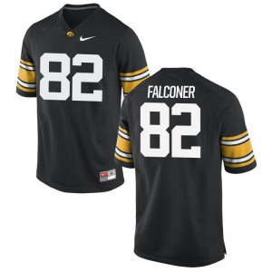 Iowa Hawkeyes Adrian Falconer For Men Limited University Jerseys Black