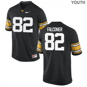 Limited Iowa Hawkeyes Adrian Falconer Youth(Kids) Black Jerseys Small