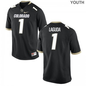 Colorado Buffaloes Afolabi Laguda Limited Jerseys Black For Kids