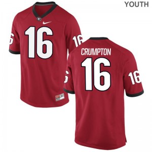 Limited Kids Georgia Jerseys Youth XL of Ahkil Crumpton - Red
