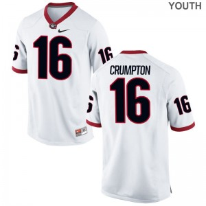 UGA Bulldogs Ahkil Crumpton Jerseys Large Limited Youth(Kids) - White