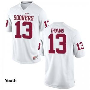 OU Ahmad Thomas Limited Jersey White Youth(Kids)