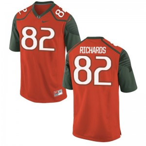 Ahmmon Richards Miami Hurricanes Jersey Mens Limited Jersey - Orange